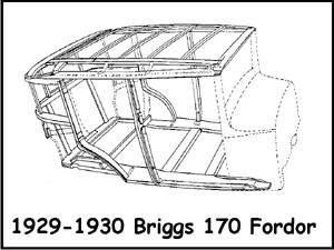 670331 Model A Ford Wood Body Plans